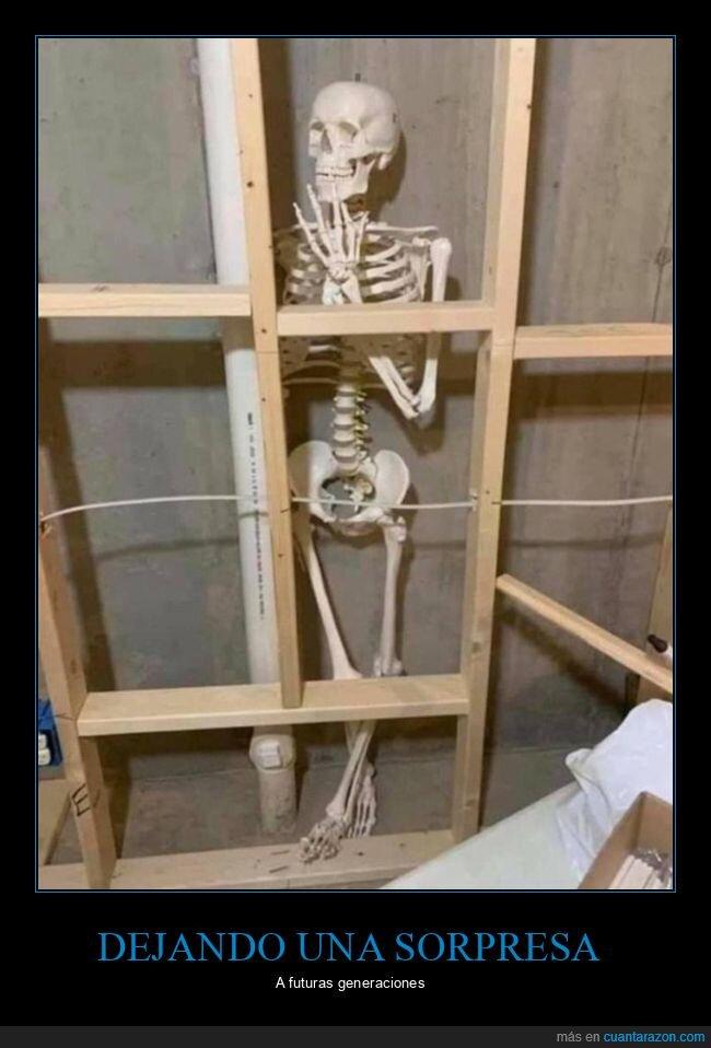 esqueleto,pared,trolling