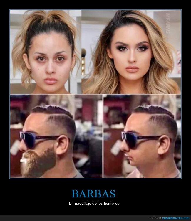 barba,maquillaje