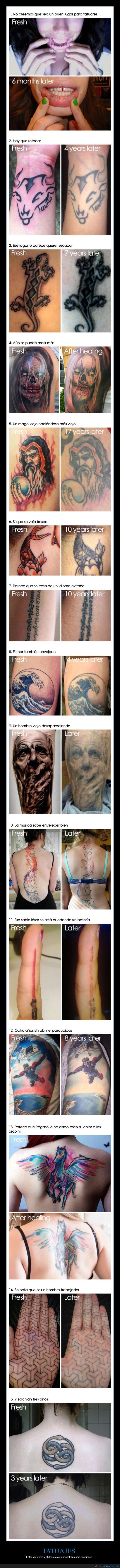 antes,después,envejecer,tatuajes