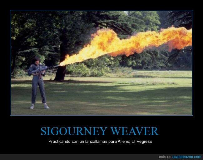 alien,lanzallamas,sigourney weaver