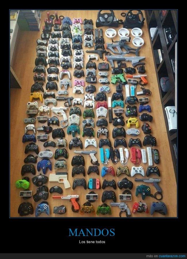 colección,mandos,videoconsolas