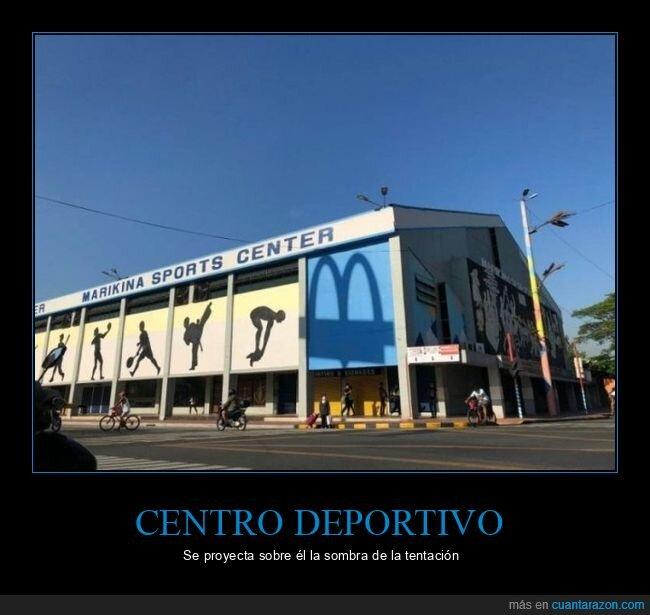centro deportivo,mcdonald's,sombra