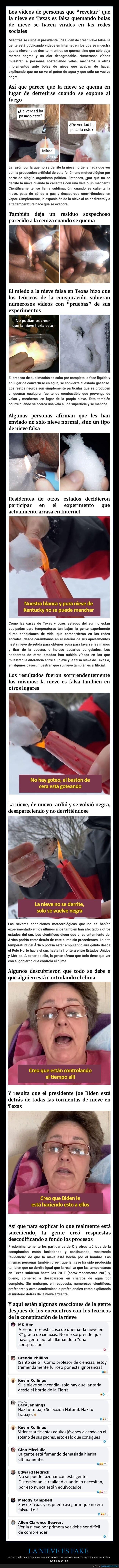 conspiranoicos,fake,nieve