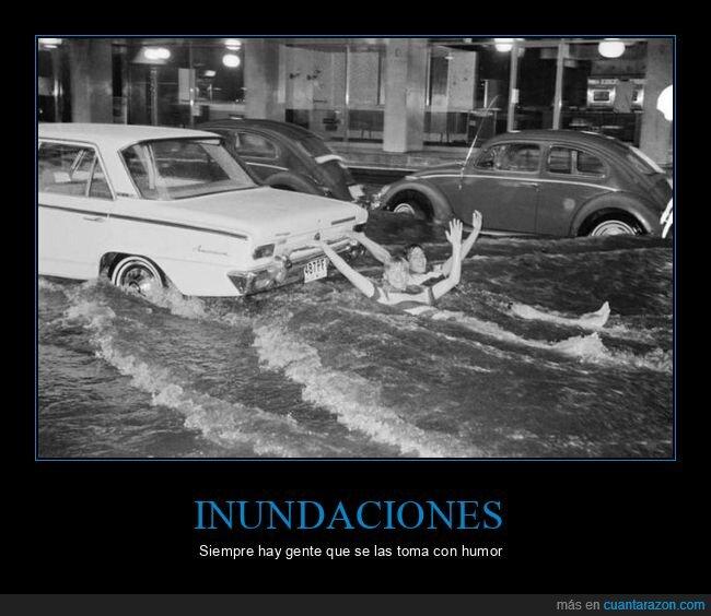 agua,coche,inundación,wtf