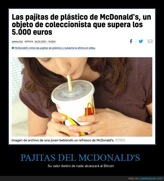 mcdonald's,pajitas,precio,subastas,wtf
