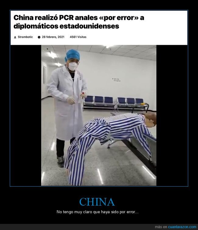 china,diplomáticos,error,estadounidenses,pcr
