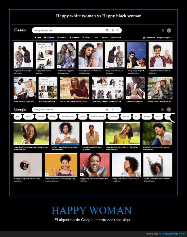 blanca,feliz,google,mujer,negra,wtf