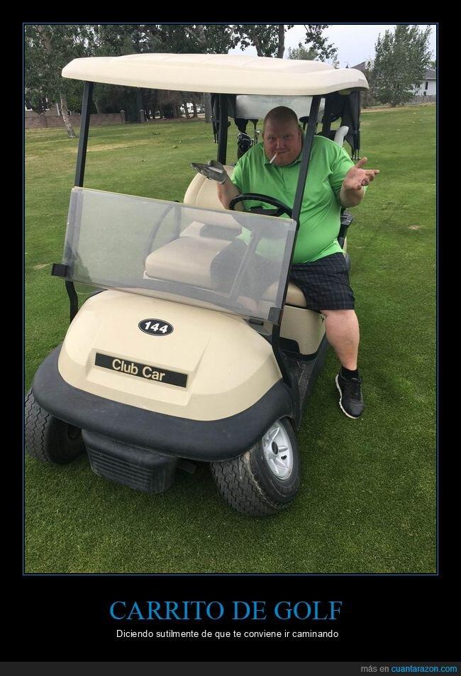 carrito de golf,fails,gordo