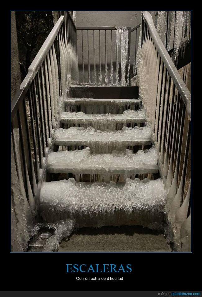 escaleras,hielo,wtf