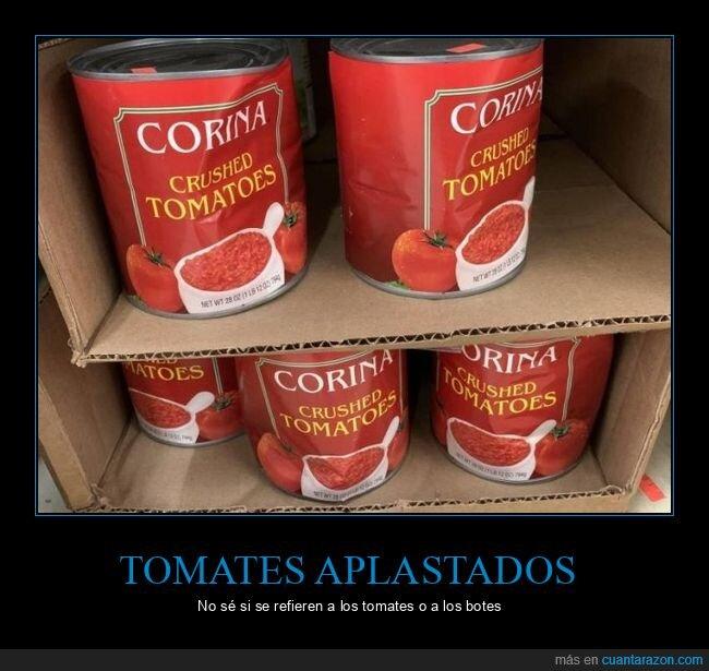 aplastado,bote,tomate