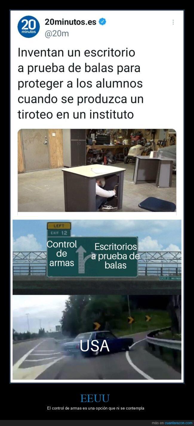 a prueba de balas,armas,escritorio,instituto,salida,tiroteos