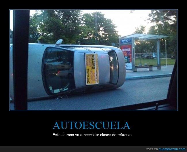 autoescuela,coche,fails,volcado