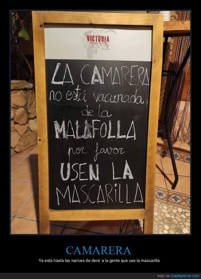 bar,camarera,carteles