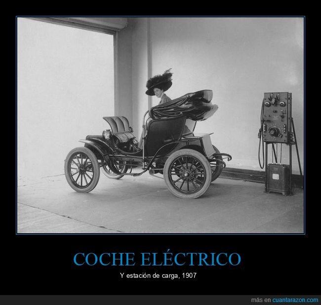 1907,coche eléctrico,retro