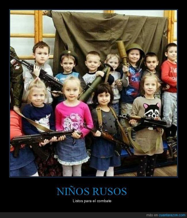 armas,niños,rusos