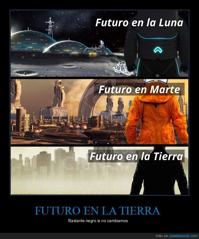 contaminación,futuro,luna,marte,tierra