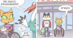 Enlace a Ilustrando experiencias como madre moderna en cómics con un toque felino