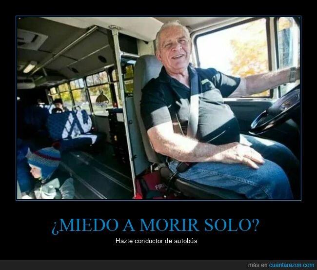 autobús,conductor,morir,solo