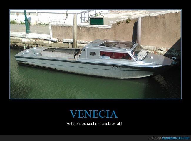 barco,coche fúnebre,venecia