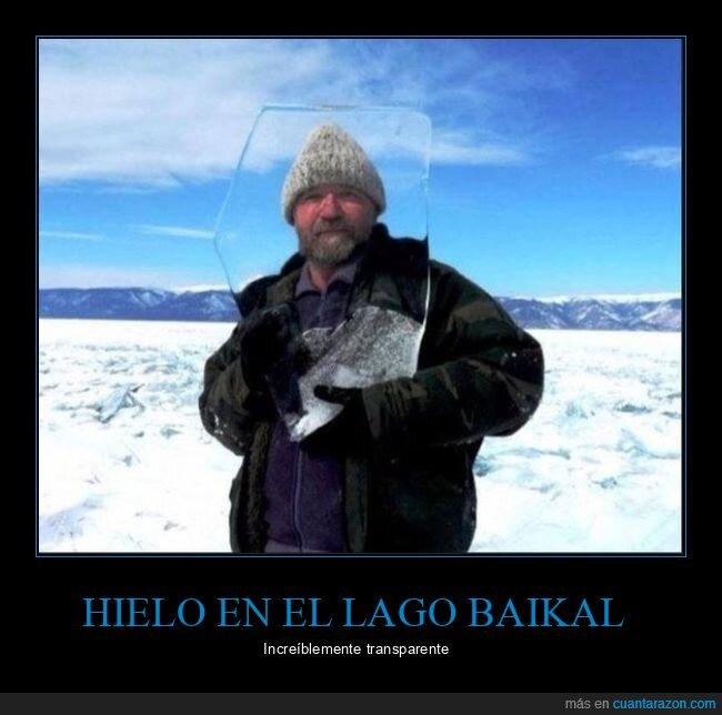 hielo,lago baikal,transparente