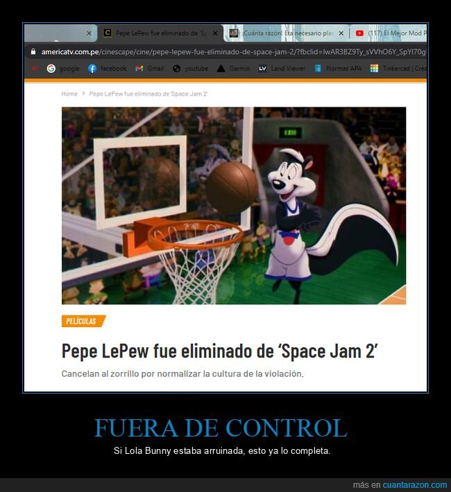 pepe lepew,space jam 2