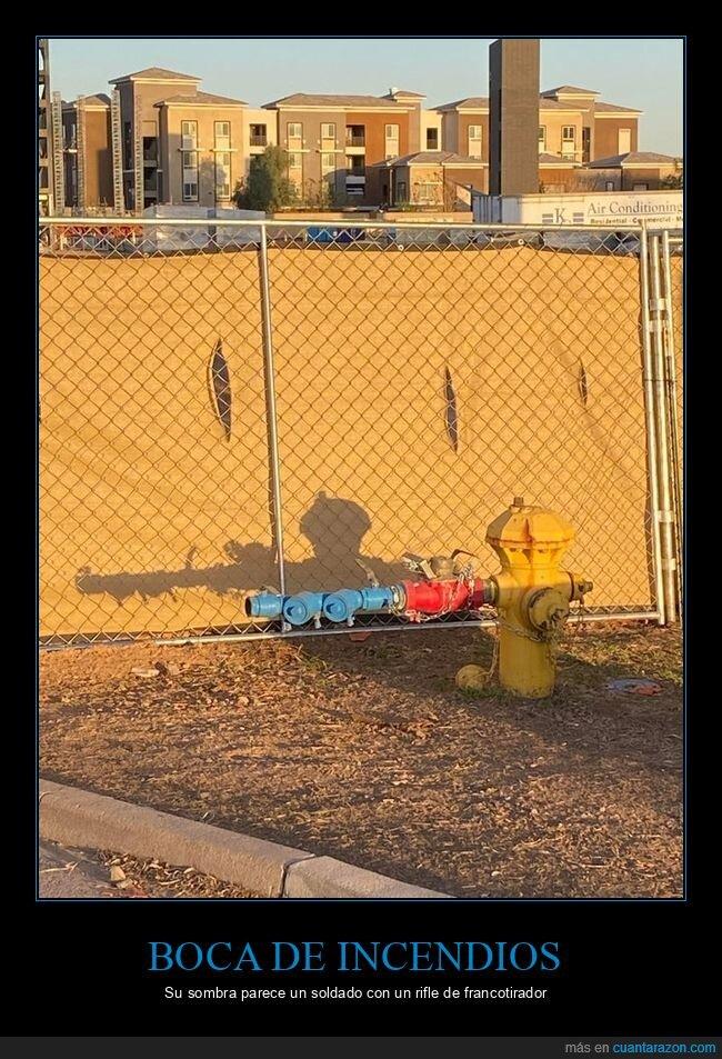 boca de incendios,sombra,wtf