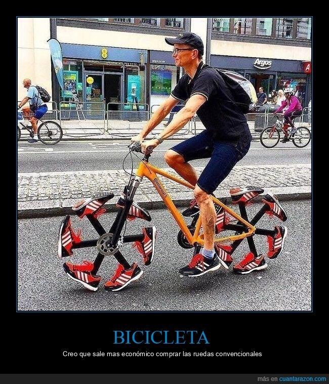 bicicleta,ruedas,wtf,zapatillas