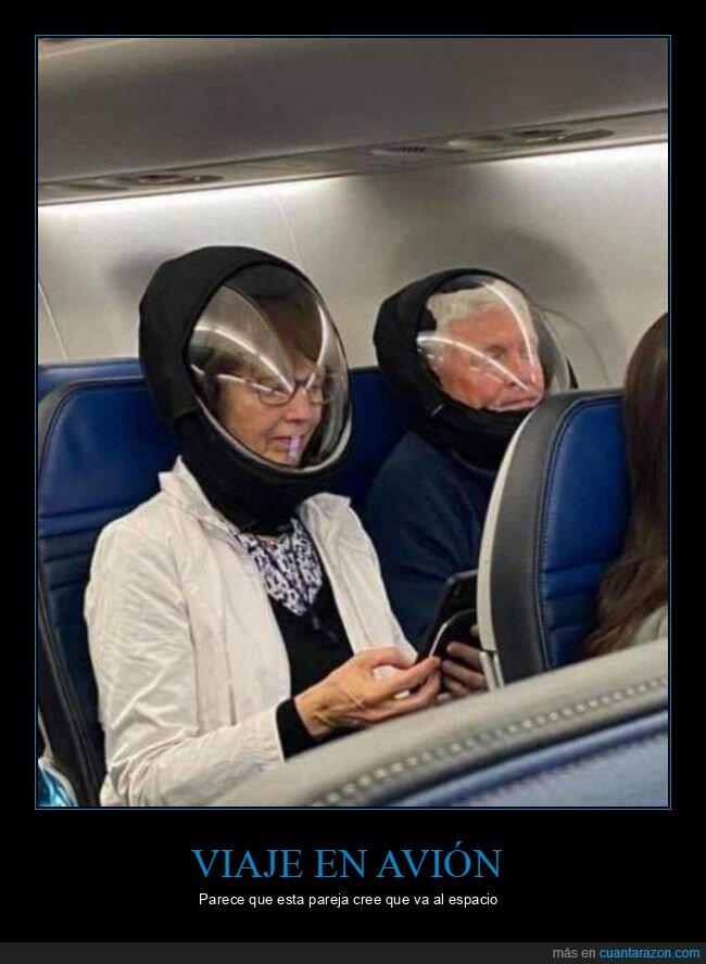 avión,cascos,escafandras,wtf