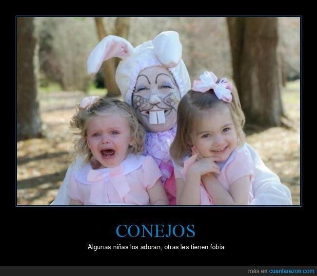 conejo,disfraz,niñas