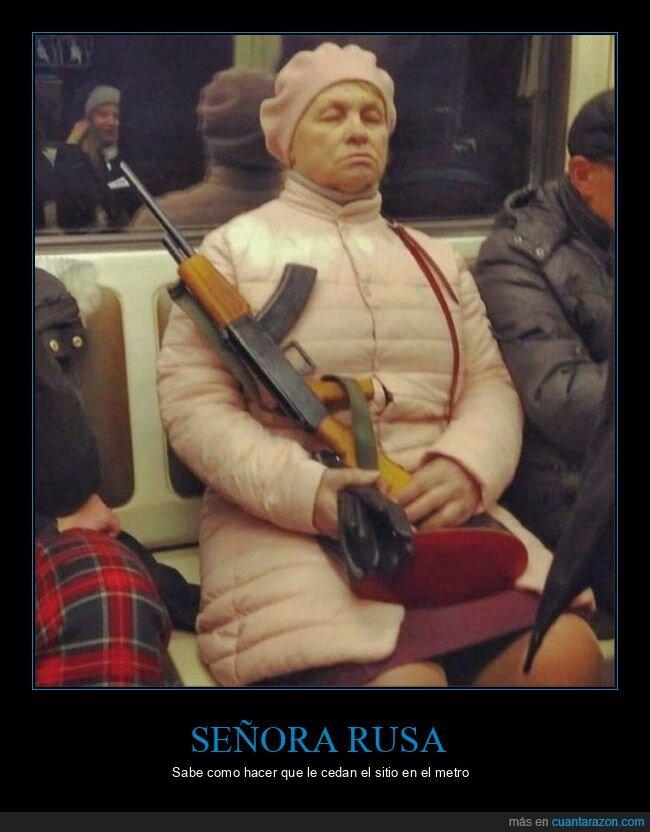 arma,metro,señora,wtf