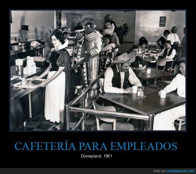 cafetería,disneyland,empleados