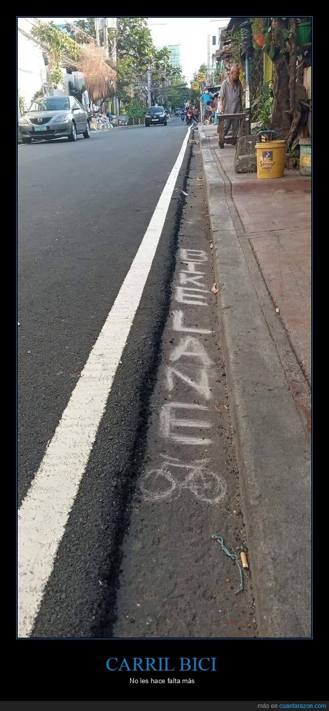 carretera,carril bici,wtf