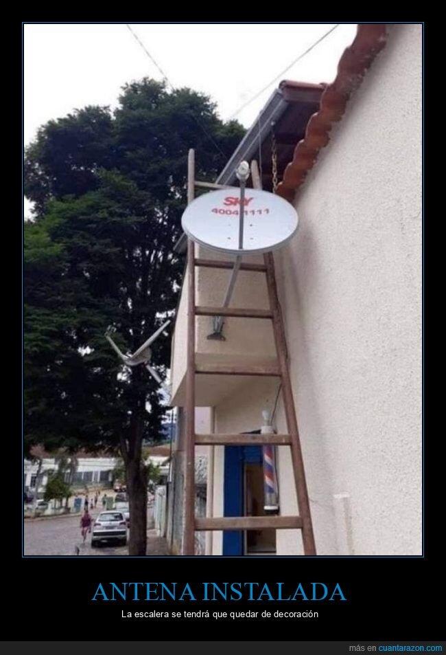 antena,escalera,fails