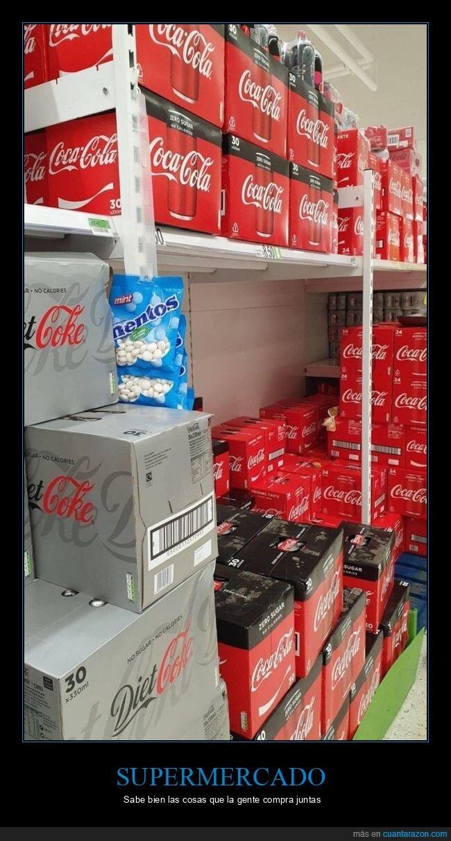 cocacola,mentos,supermercado