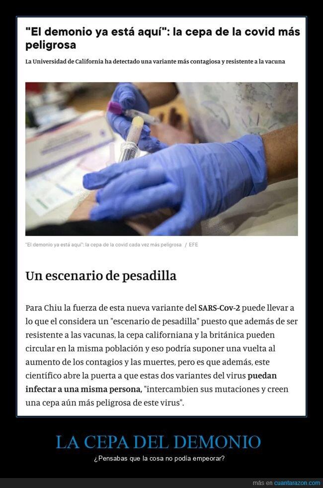 cepa del demonio,coronavirus