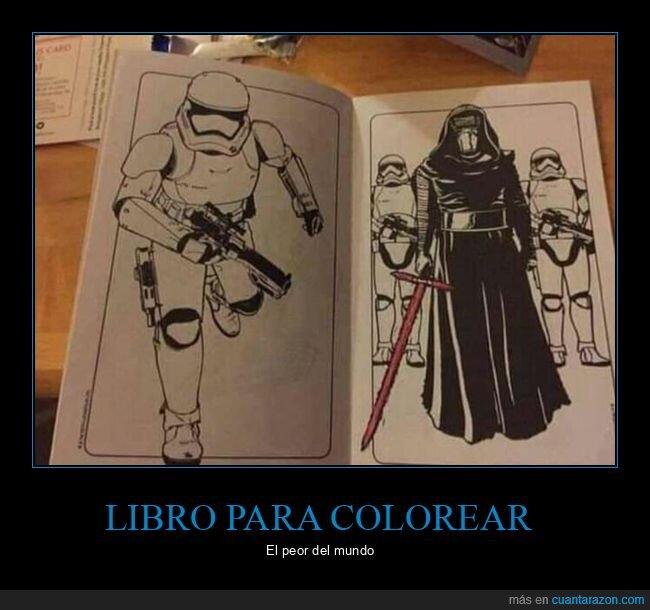colorear,libro,star wars