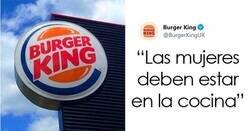 """Enlace a Burger King UK tuitea que """"las mujeres deben estar en la cocina"""" en el Día Internacional de la Mujer"""
