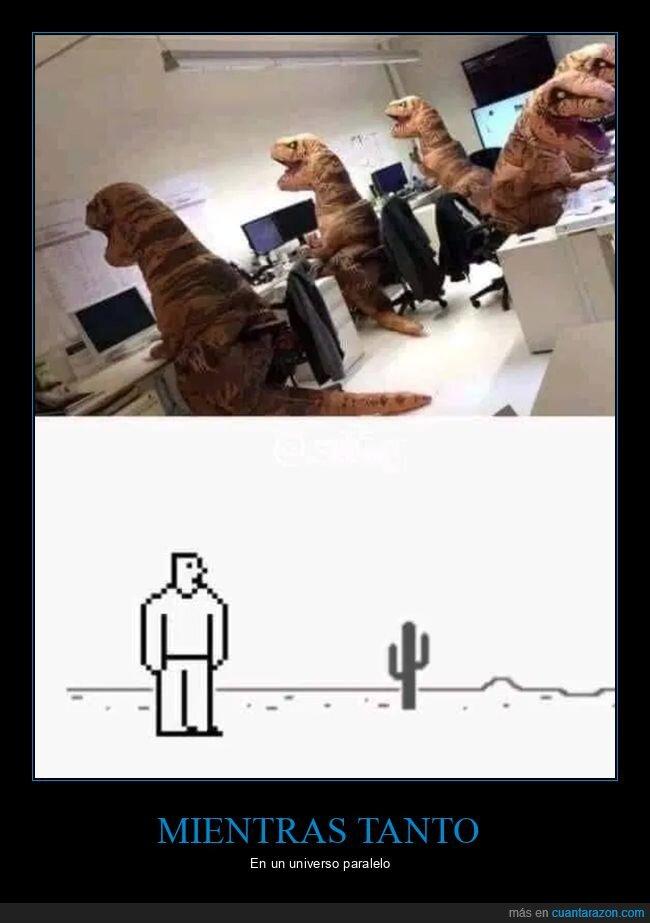 chrome,dinosaurios,ordenadores,universo paralelo
