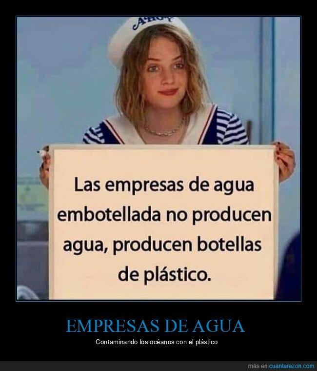 agua,plástico