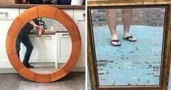 Enlace a Personas que intentaron vender sus espejos y el resultado es muy gracioso