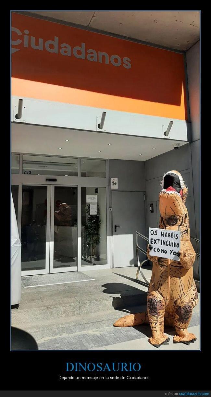 ciudadanos,dinosaurio,extinguirse,políticos