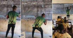 Enlace a Así le ha cambiado la vida al profesor que enseñaba informática con tiza y pizarra en África