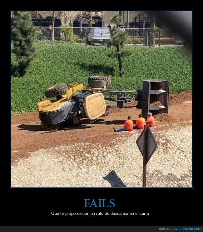 fails,tractor,volcado