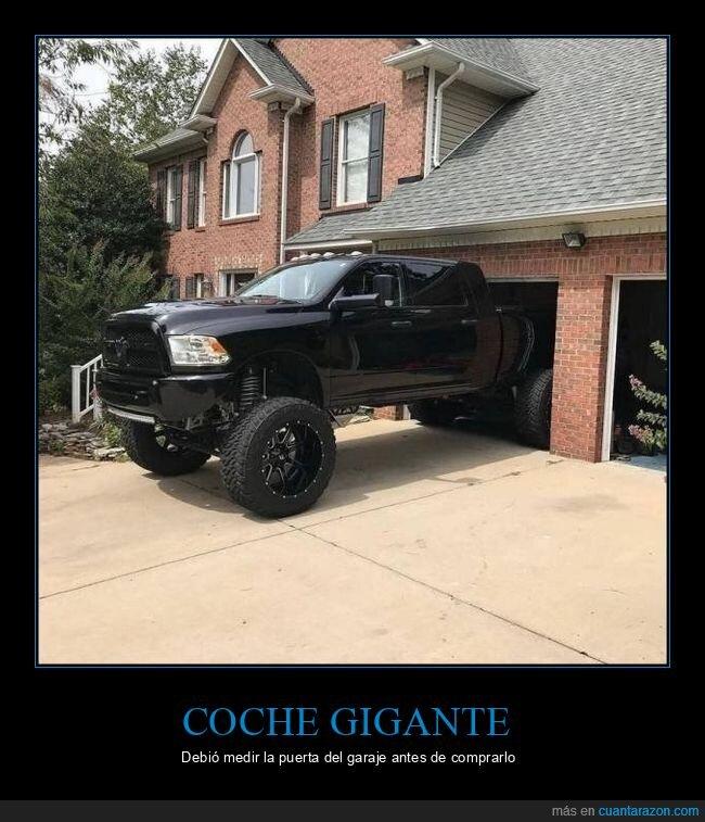 coche,fails,garaje,gigante
