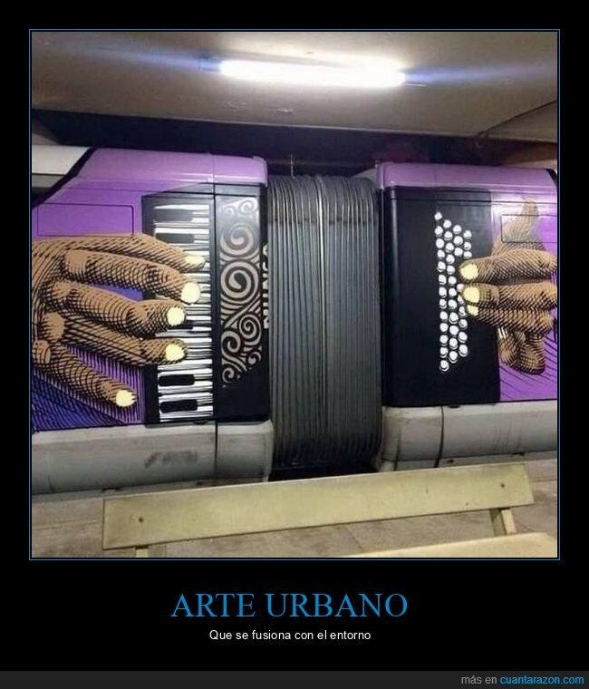 acordeón,arte urbano,metro