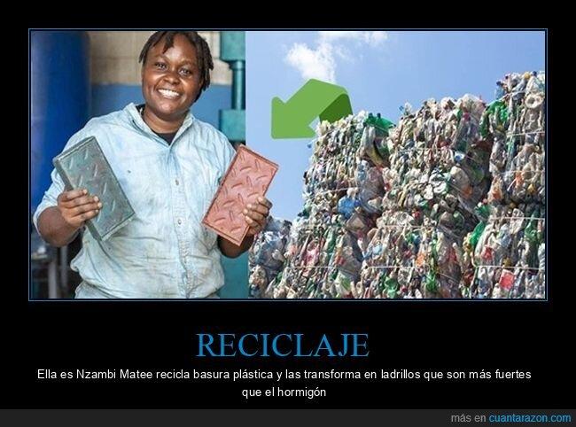 ladrillos,plástico,reciclaje