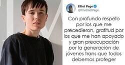 Enlace a Elliot Page es noticia por su primera entrevista desde que salió del armario como transgénero