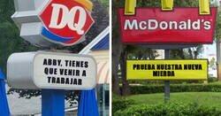 Enlace a Divertidísimos carteles vistos en restaurantes de comida rápida