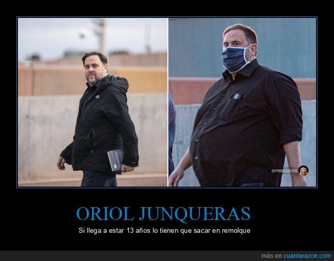 antes,después,gordo,oriol junqueras,políticos