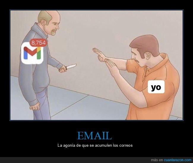 cuchillo,email